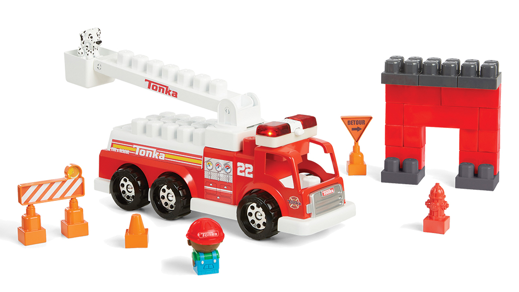 Tonka Mighty Builders Fire Tuff Truck Play Set-Light & Sound