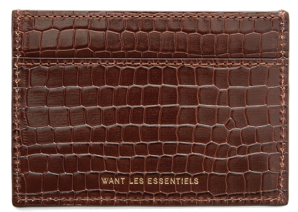 Branson Brown Croc Embossed Back