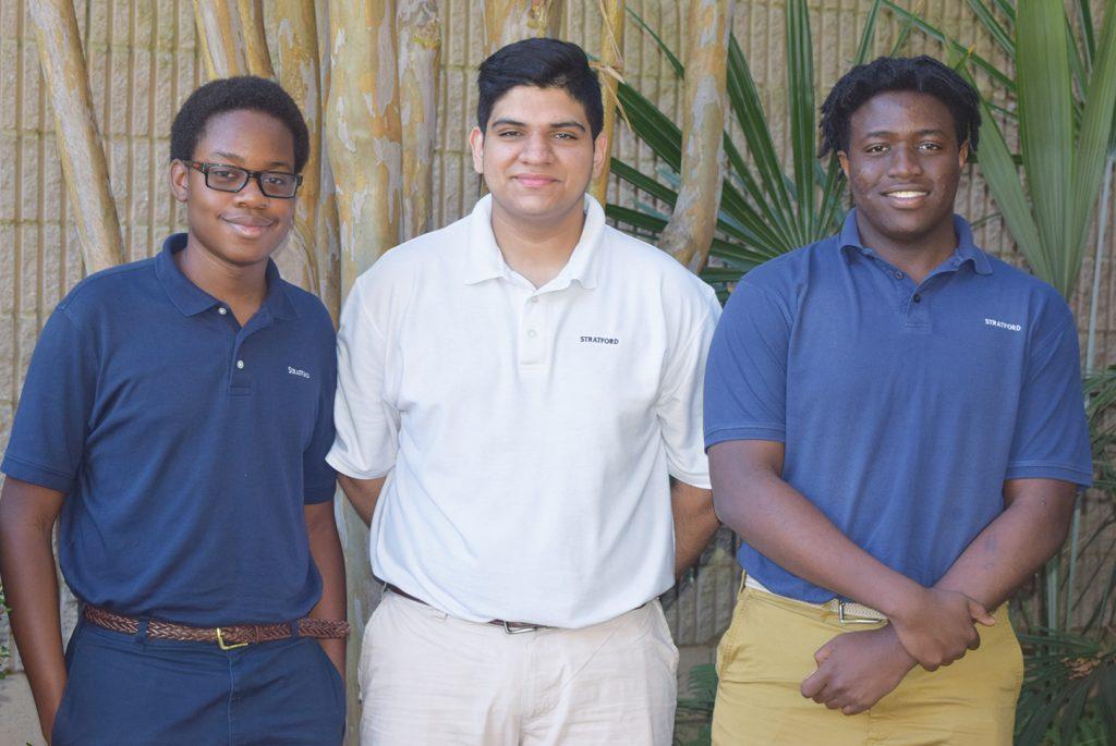 Stratford Academy: Sean Malhotra, Chidozie Nwanbuebo, and Tomi Sogade.